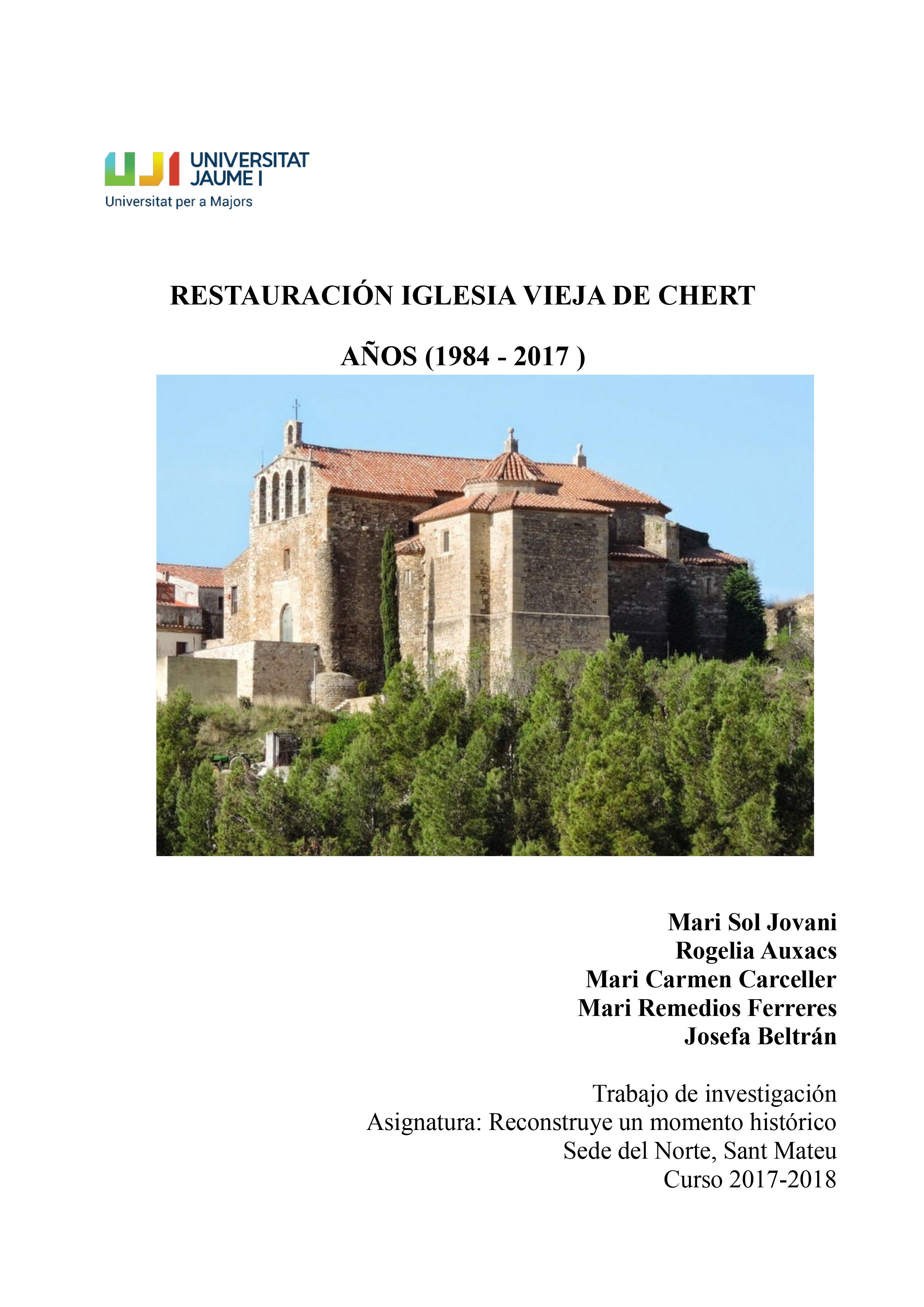 Restauración-de-la-Iglesia-Vieja-de-Chert
